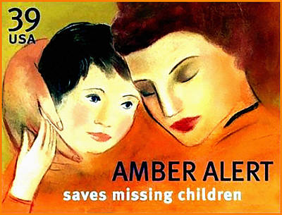 Missing Child Painting - Amber Alert by Lanjee Chee