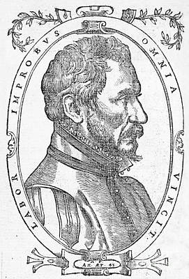 Ambroise Pare, French Surgeon, 1561 Print by Wellcome Images