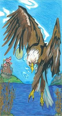 Drawing - America... by Justin Chase