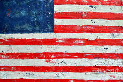 Abstract American Flag Painting - America by Nicky Dou