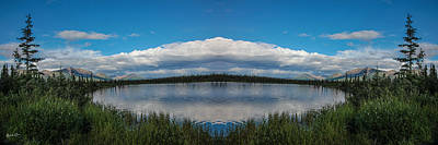 Reflections Of Sky In Water Photograph - America The Beautiful - Alaska by Madeline Ellis