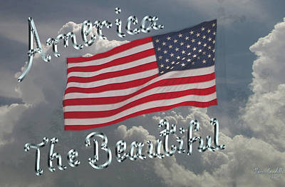 Waving Flag Mixed Media - America The Beautiful by Kevin Caudill