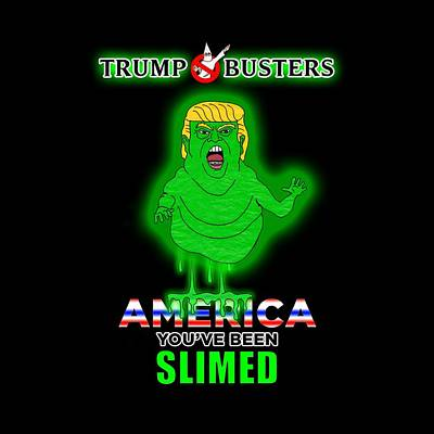 Hillary Clinton Drawing - America, You've Been Slimed by Sean Corcoran