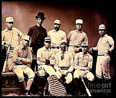 Baseball History Painting - American Baseball Team 1890s  by Unknown