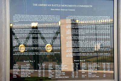 Print featuring the photograph American Battle Monuments Commission by Travel Pics