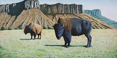 American Bison Original by Joseph Kemeny