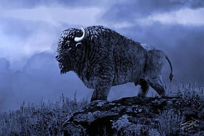 American Bison Print by Matthew Schwartz