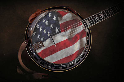 Old Glory Photograph - American Bluegrass Music by Tom Mc Nemar