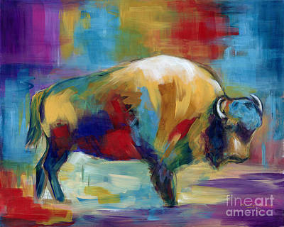 Painting - American Buffalo by Marilyn Dunlap