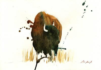 American Buffalo Painting Original by Juan  Bosco