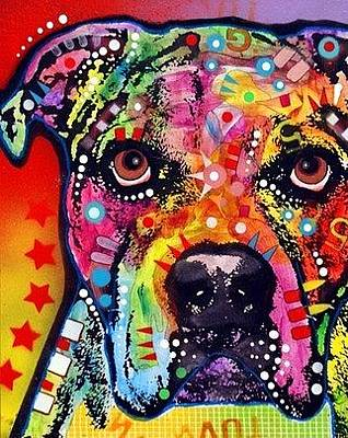 Bulldogs Painting - American Bulldog by Dean Russo