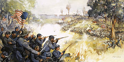 Us Flag Painting - American Civil War by James Edwin McConnell