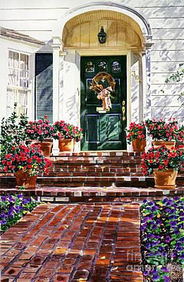 Wreath Painting - American Classic by David Lloyd Glover