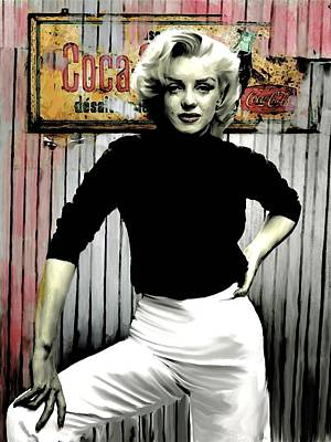 Marilyn Monroe Drawing - Marilyn Monroe American Classics  by Iconic Images Art Gallery David Pucciarelli