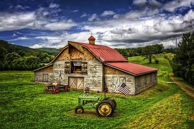 American Country Barn Print by Debra and Dave Vanderlaan