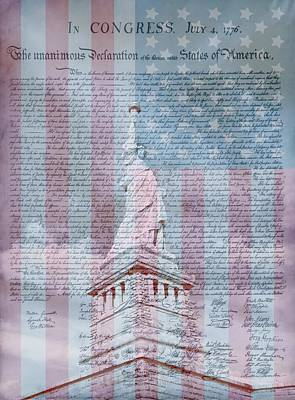 Independence Mixed Media - American Declaration Of Independence by Dan Sproul