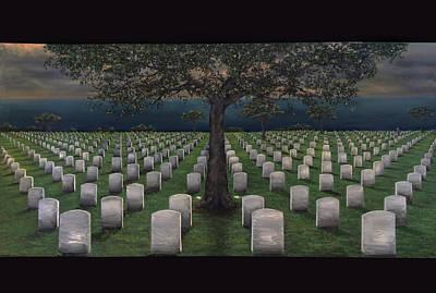 Lincoln Memorial Painting - American Dream Pricetag by Antonio Ortiz