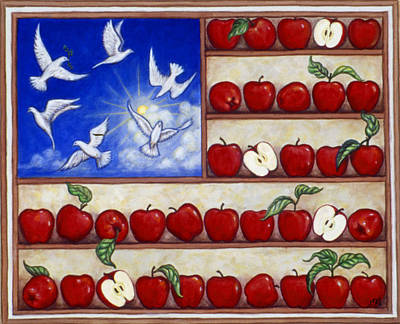 Doves Painting - American Fantasy by Linda Mears