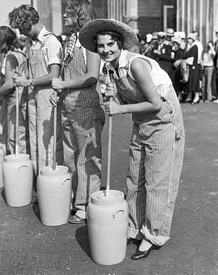 Pomona Photograph - American Farm Girl Champion by Underwood Archives