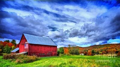 Red Barn. New England Painting - American Farmer by Edward Fielding