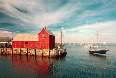 Rockport Photograph - American Fishing Shack by Todd Klassy