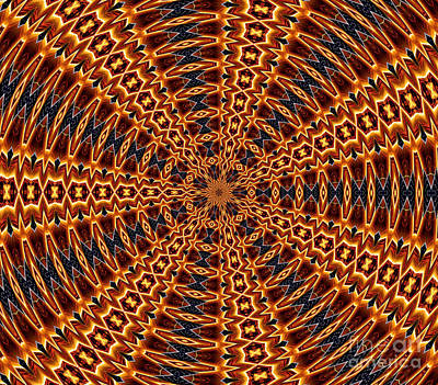Mandala Photograph - American Flag And Fireworks Kaleidoscope Abstract 5 by Rose Santuci-Sofranko