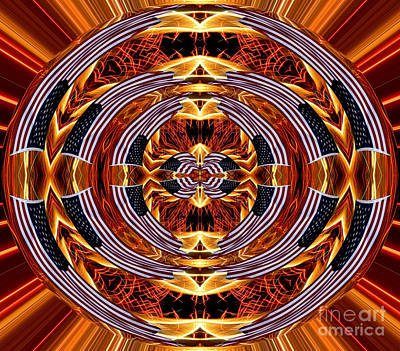 Fireworks Photograph - American Flag And Fireworks Polar Coordinates Abstract by Rose Santuci-Sofranko