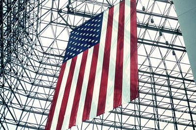 American Flag In Kennedy Library Atrium - 1982 Print by Thomas Marchessault