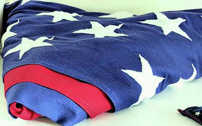 American Flag Print by Janice Drew