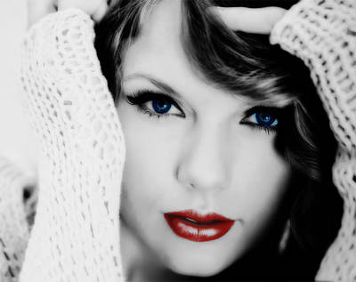 American Girl Taylor Swift Print by Brian Reaves