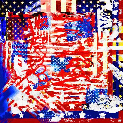 Patriotic Painting - American Graffiti Presidential Election 2  by Tony Rubino