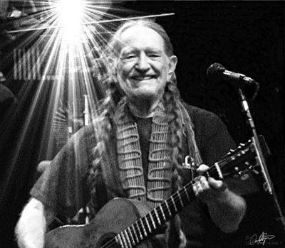 American Icon - Willie Nelson Print by David Syers