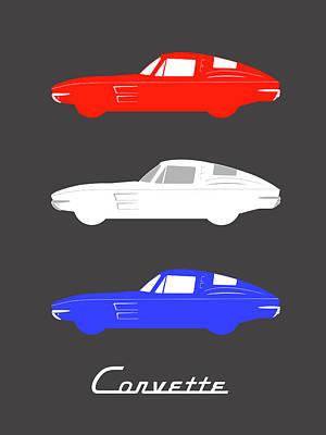 American Icon - Corvette Stingray Print by Mark Rogan