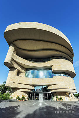 Curvilinear Photograph - American Indian Museum by John Greim