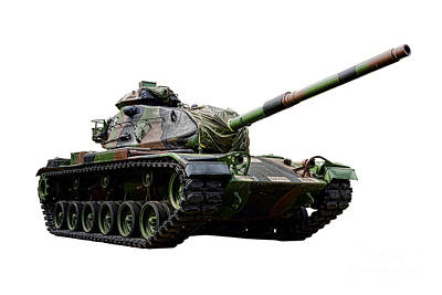American M60 Patton Tank Print by Olivier Le Queinec