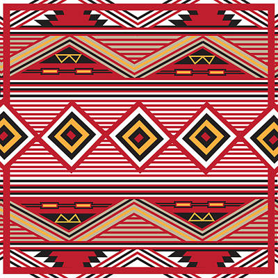 American Native Art No. 1 Print by Henrik Bakmann