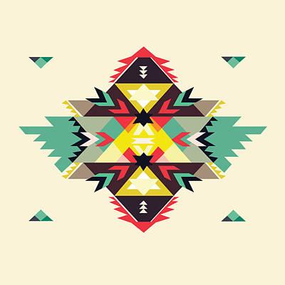 Tribal Digital Art - American Native Art No. 11 by Henrik Bakmann