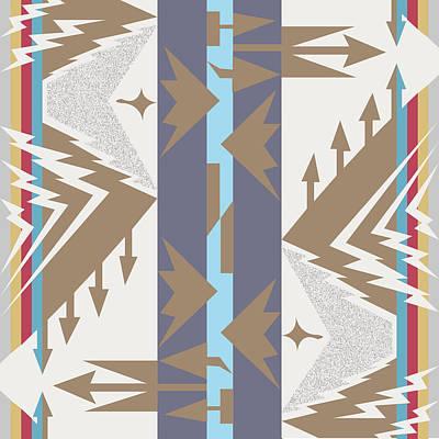 Tribal Digital Art - American Native Art No. 20 by Henrik Bakmann