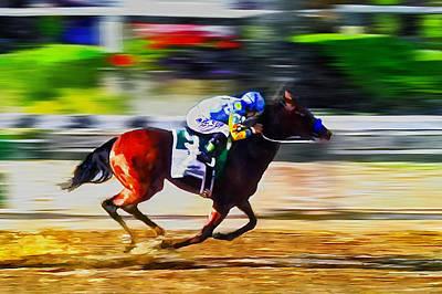 Horse Racing Digital Art - American Pharoah by Rick Mosher