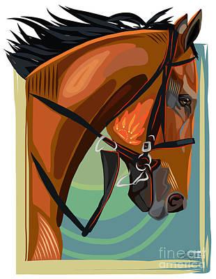 American Pharoah Road To The Derby Print by Dania Sierra