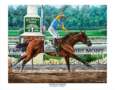Painting - Official American Pharoah Signed Print by Thomas Allen Pauly