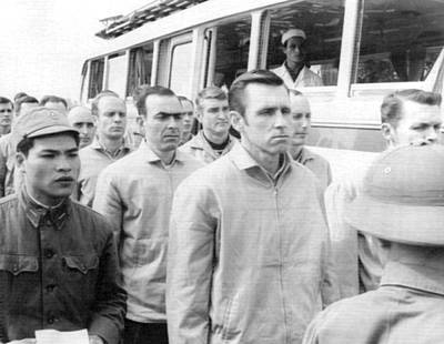 Anticipation Photograph - American Pows In Hanoi by Underwood Archives