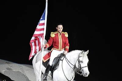 Horse Show Digital Art - American Pride by Vijay Sharon Govender