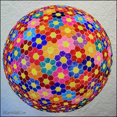 Homemade Quilts Photograph - American Quilt Flower Ball by LeeAnn McLaneGoetz McLaneGoetzStudioLLCcom