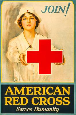 American Red Cross Nurse Print by David Letts