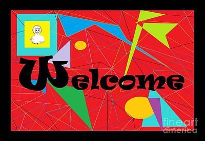 Interpret Signs Digital Art - American Sign Language Welcome by Eloise Schneider