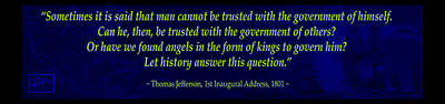 Thomas Jefferson Mixed Media - American Twilight by AE Samaan