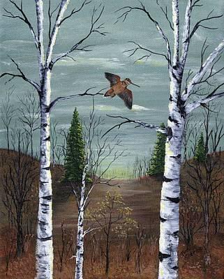 Woodcock Painting - American Woodcock by Judy Sherman