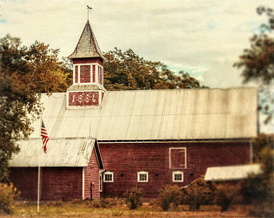 Weathervane Photograph - Americana Barn by Lisa Russo