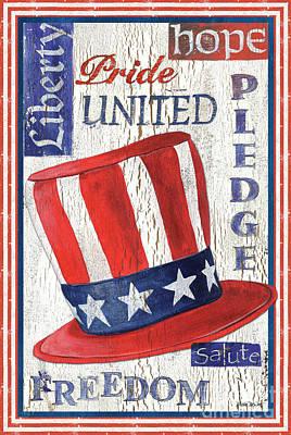 Icon Painting - Americana Patriotic by Debbie DeWitt